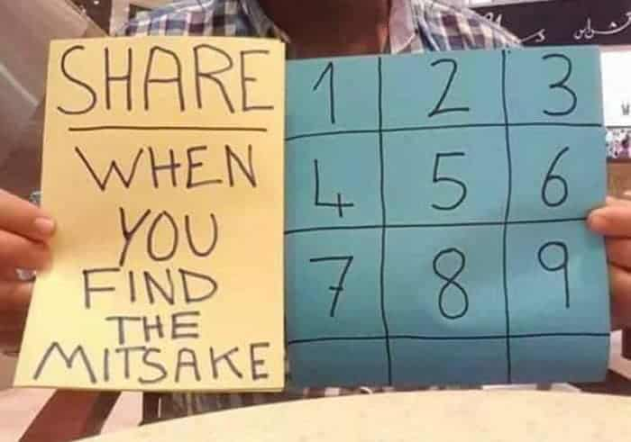 Find the mistake puzzle