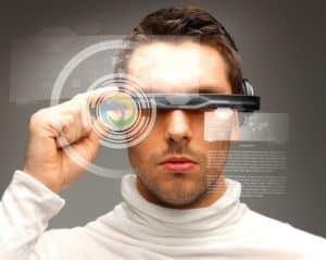 Man wearing technology