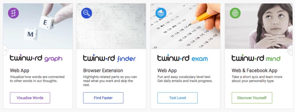 Twinword producs