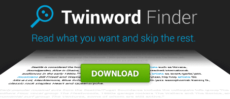 Twinword Finder banner