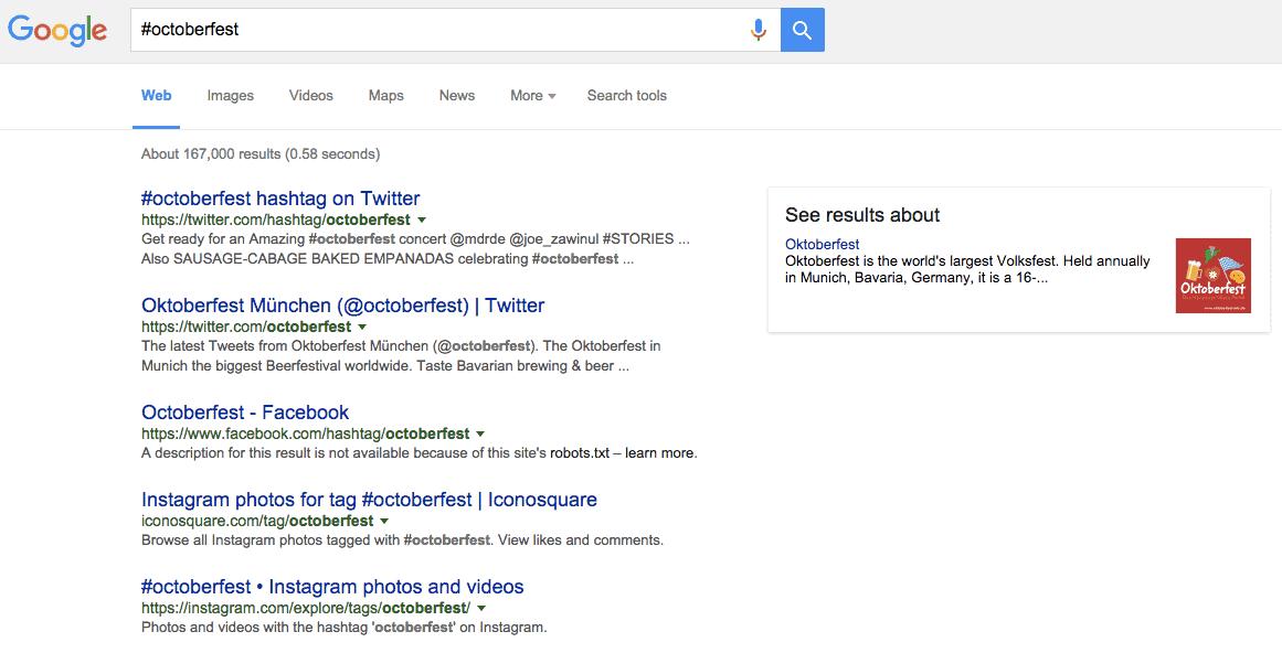Screenshot of Google SERP