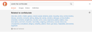 Screenshot of DuckDuckGo Instant Answer powered by Twinword API