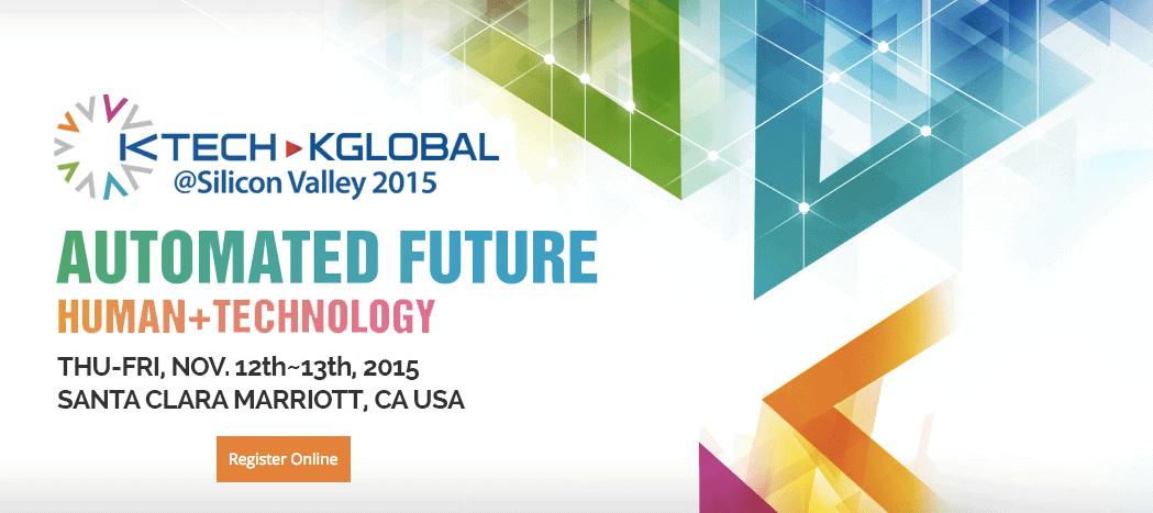 KTech KGlobal Silicon Valley 2015 event flyer