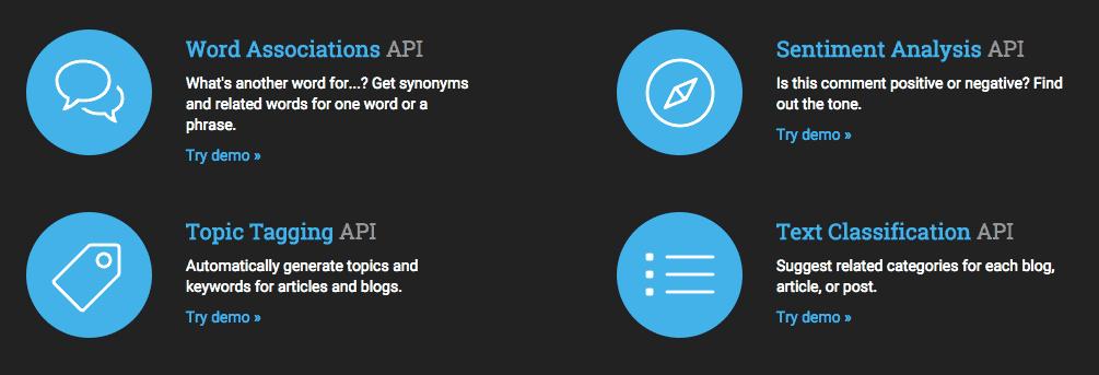 Natural Language Processing APIs from Twinword
