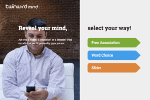 Screenshot of Twinword Mind home page