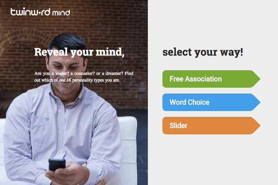 Twinword Mind Screenshot