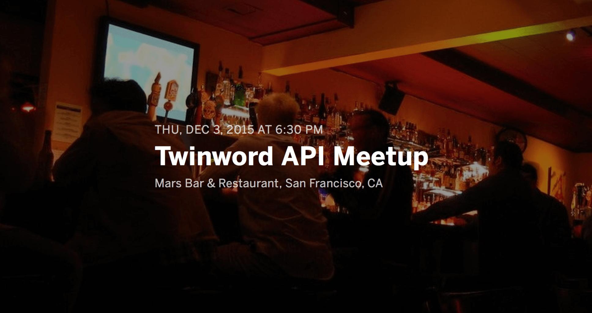 Twinword API 2015 Meetup banner