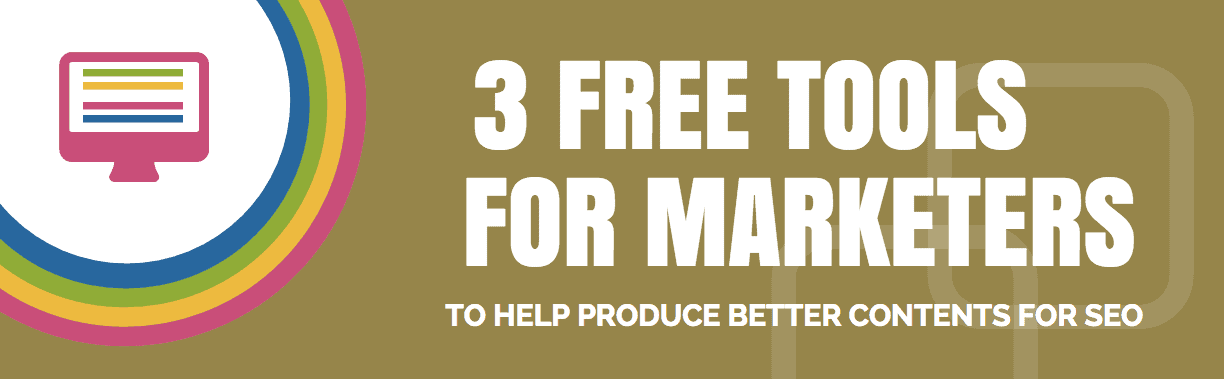 Title section from the 3 Free Tools For Marketers infographic