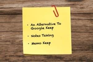 an alternative to google keep