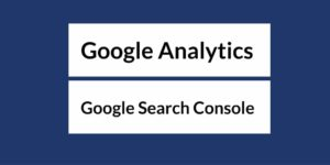 Google Analytics: Google Search Console caption