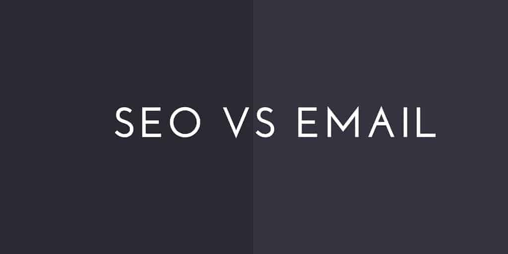 SEO vs Email caption