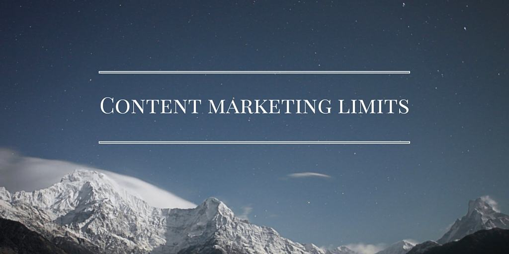 Content Marketing Limitations caption