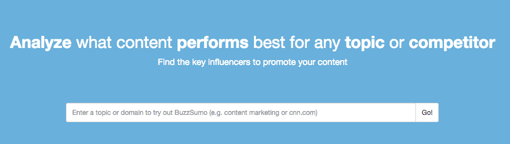 BuzzSumo marketing tool