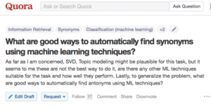 Screenshot of a Quora question