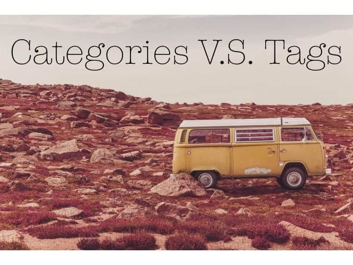 Categories V.S. Tags caption