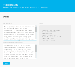 Text Similarity API Demo Screenshot