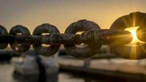 link of chains representing backlinks