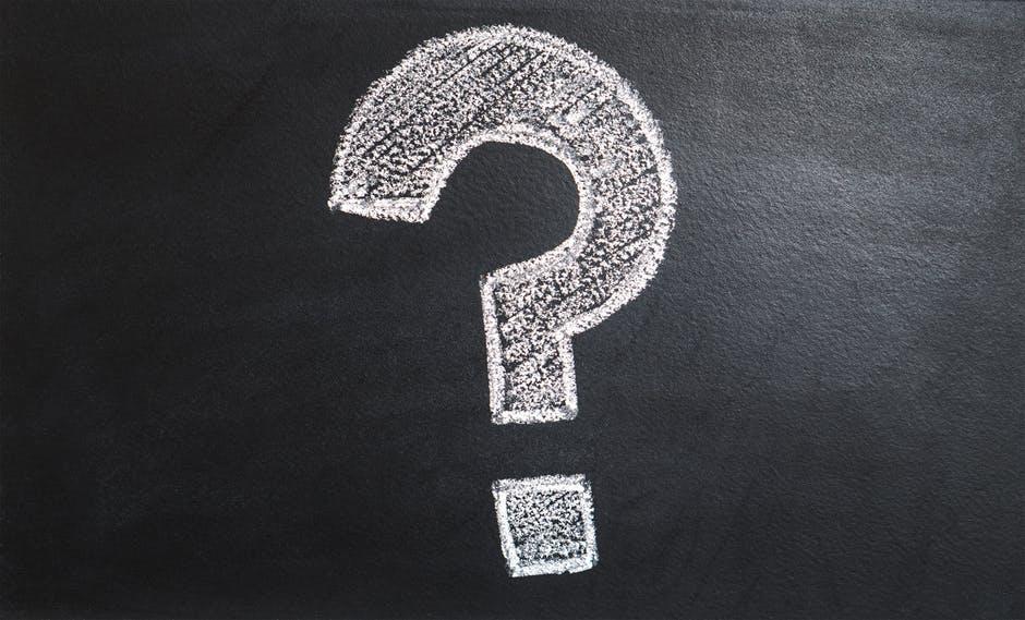 chalkboard question mark
