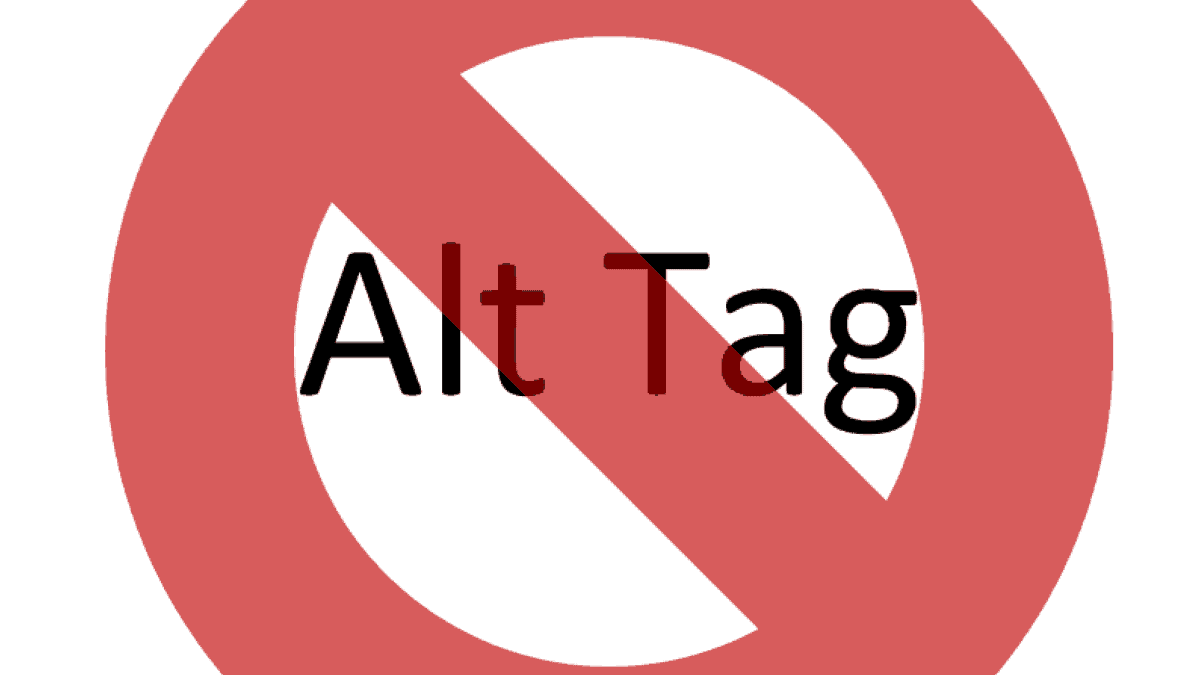 It's not an alt tag