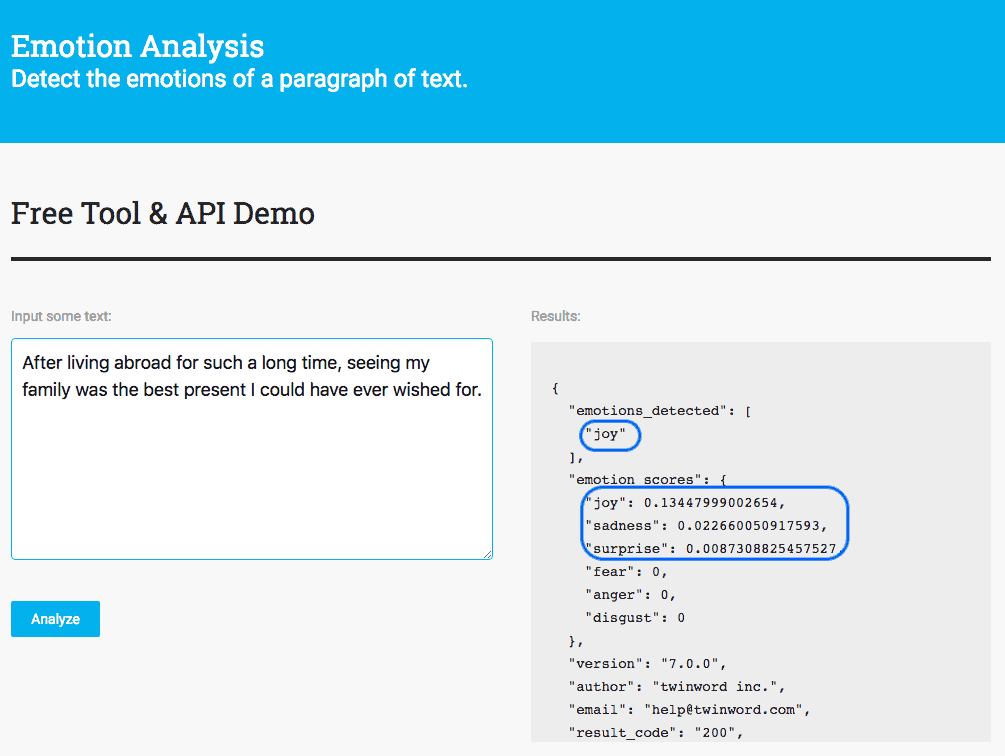 Announcement - Introducing The New Emotion Analysis API