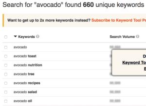 Screenshot of Keyword Tool