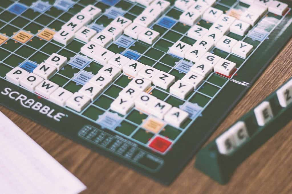 Picture of scrabble game