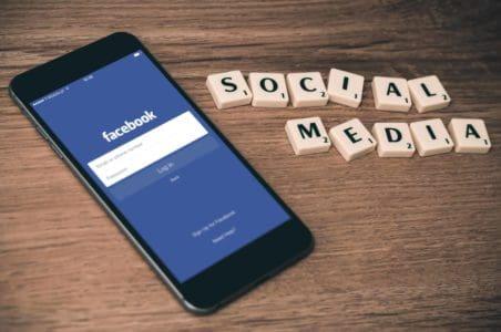 Social Media Phone with Facebook Login Screen