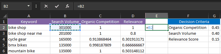 Selecting a cell in Excel