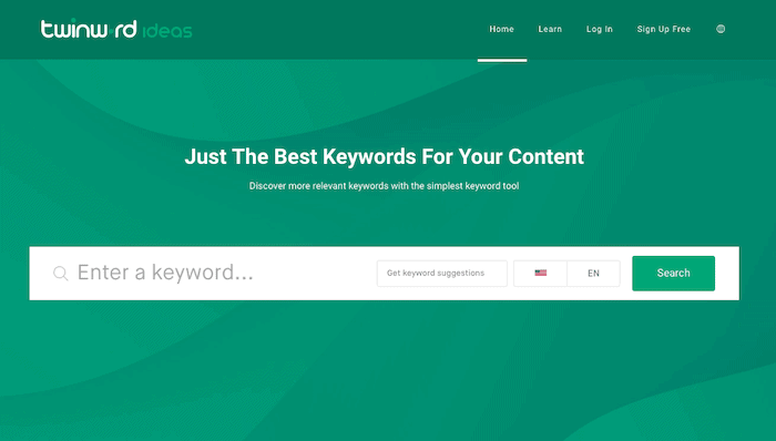 The smartest keyword tool Twinword Ideas , that provides the best keywords for ASO.