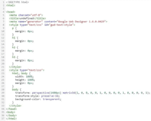 Picture of code showing the different title tags.