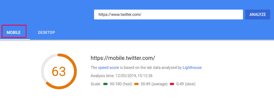 Google's pagespeed insight tool to optimize for mobile SEO.
