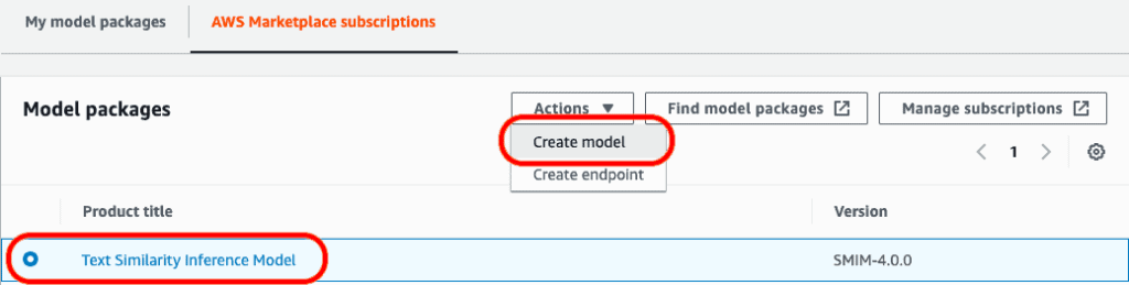 AWS Sagemaker how to create a model.