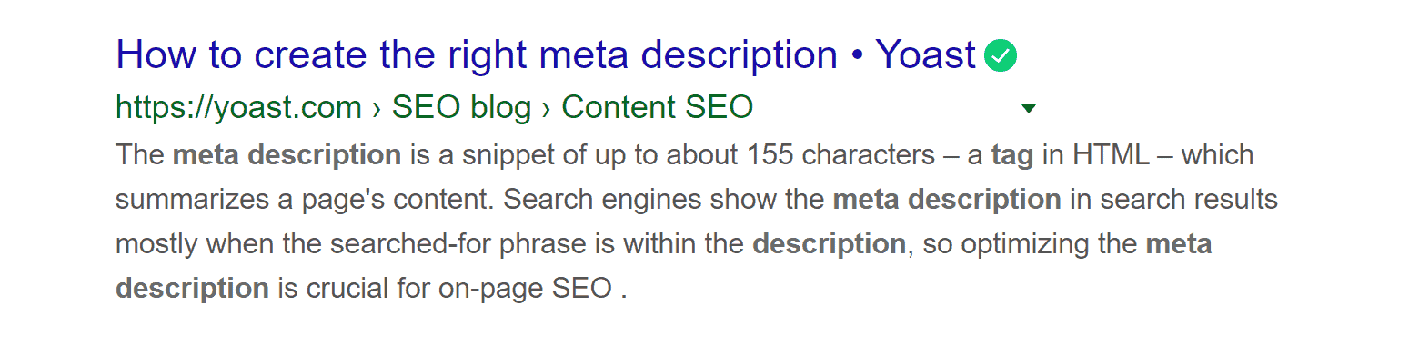 longer meta description