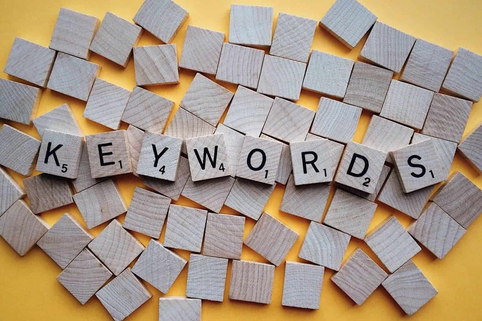 Using the right keywords is essential in SEO
