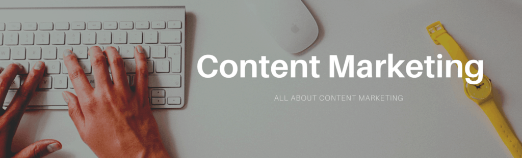 All about content marketing banner.