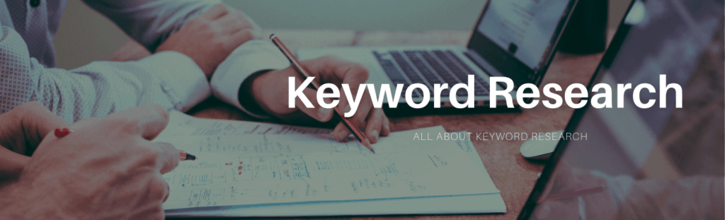 All about keyword research banner.