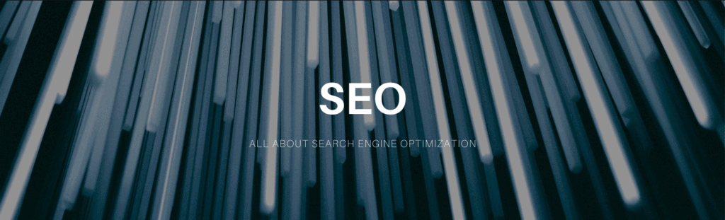 All about SEO banner.