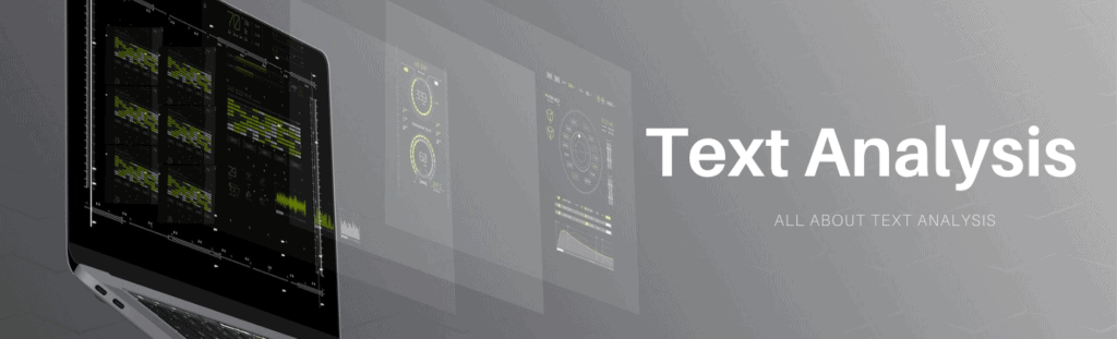 Text Analysis technology Category Banner.