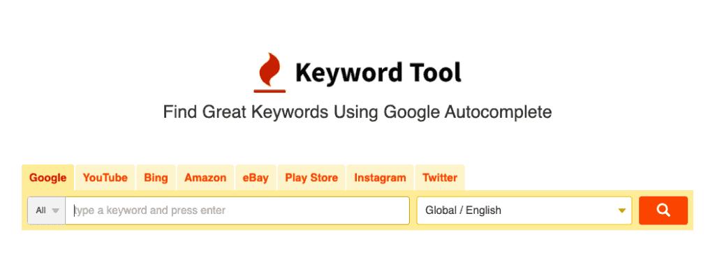 keywordtool.io homepage