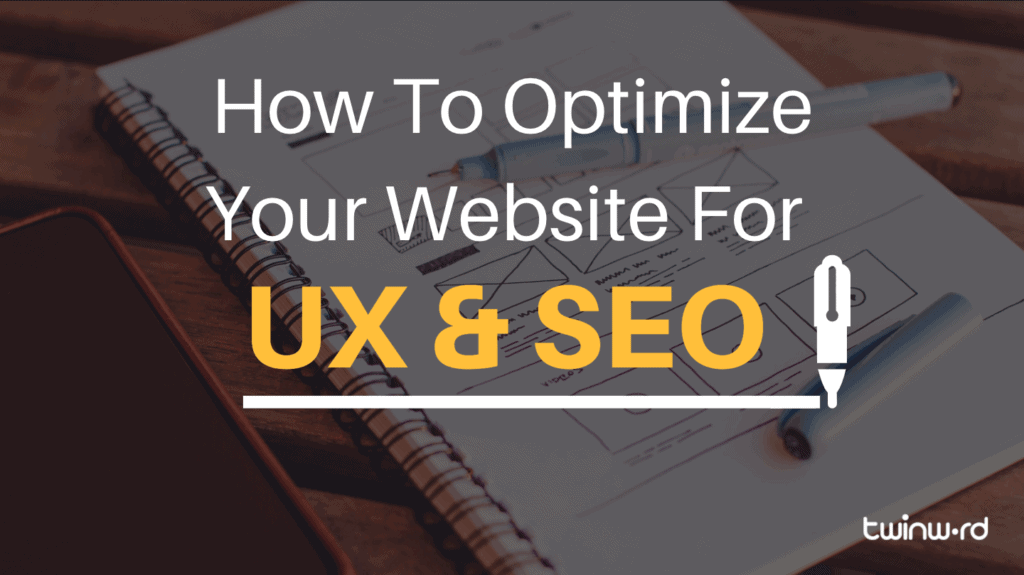 How to optimize for UX and SEO banner.