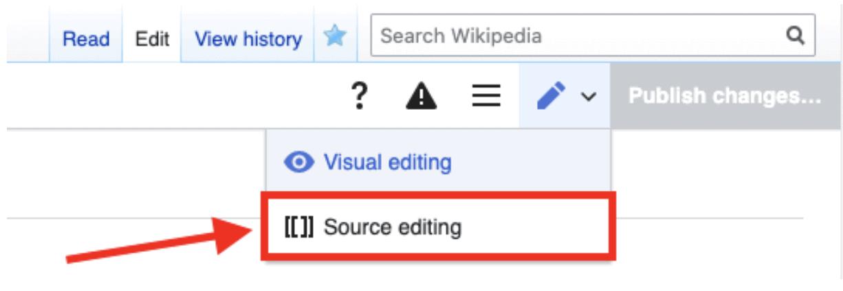 Source editing