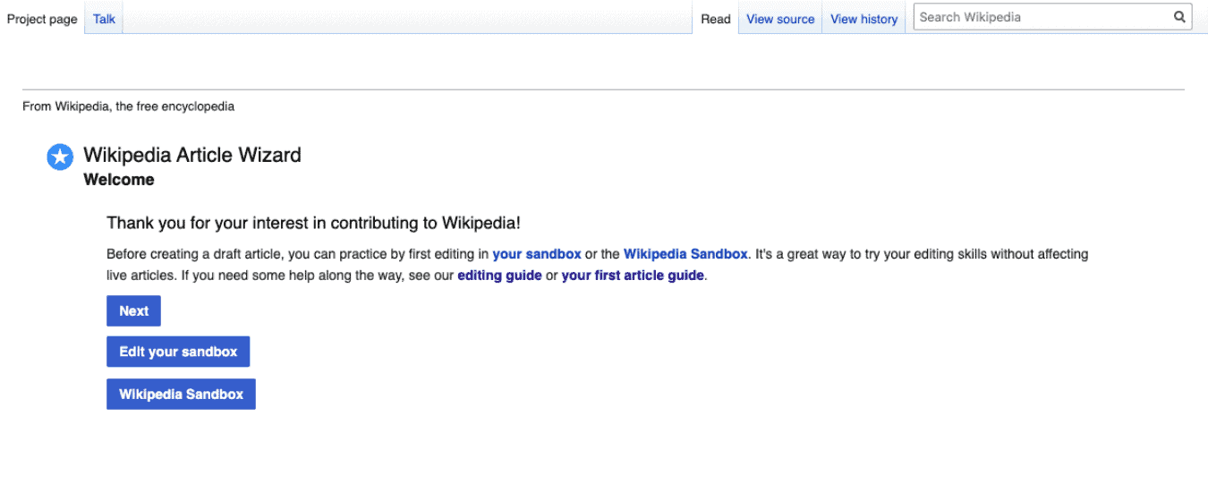 WIkipedia Article Wizard