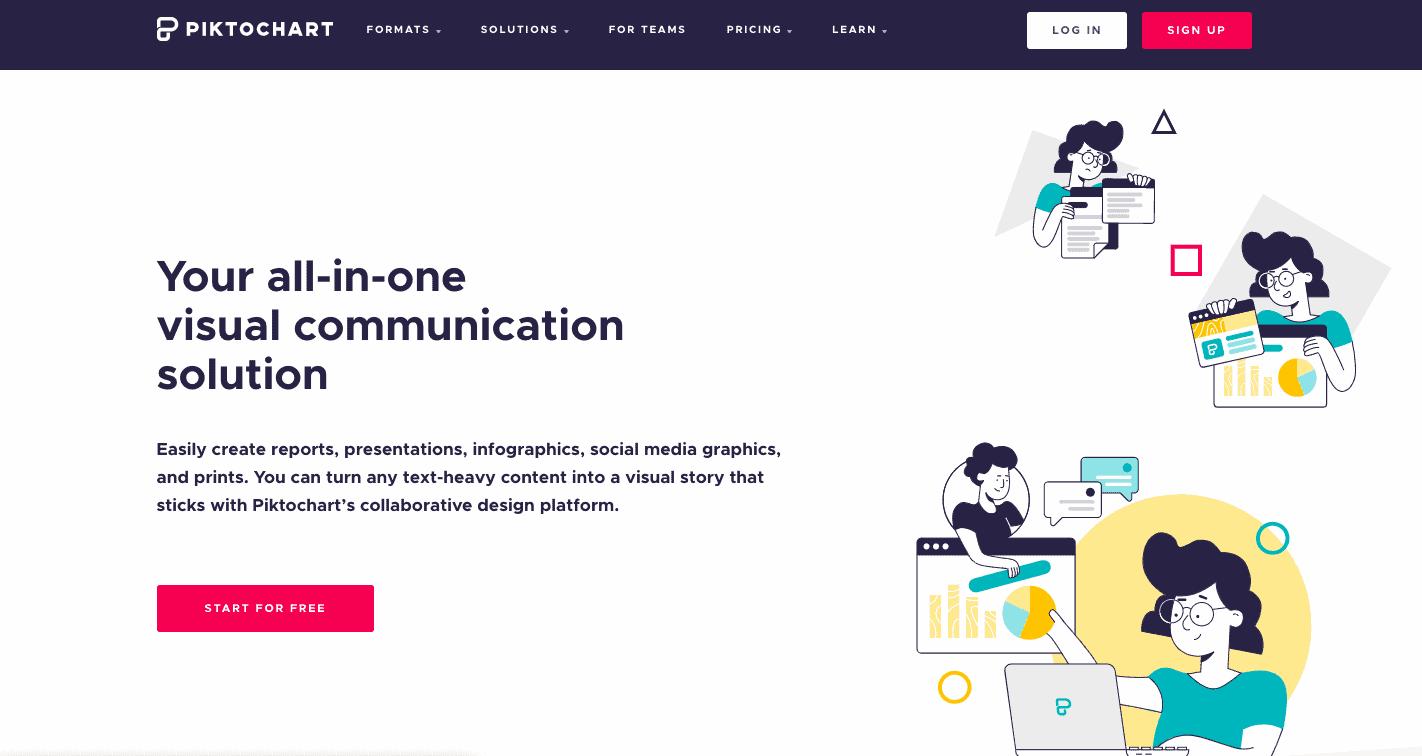 Website of Piktochart