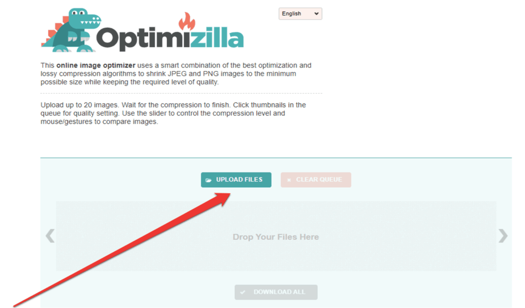 How to compress image files with Optimizilla