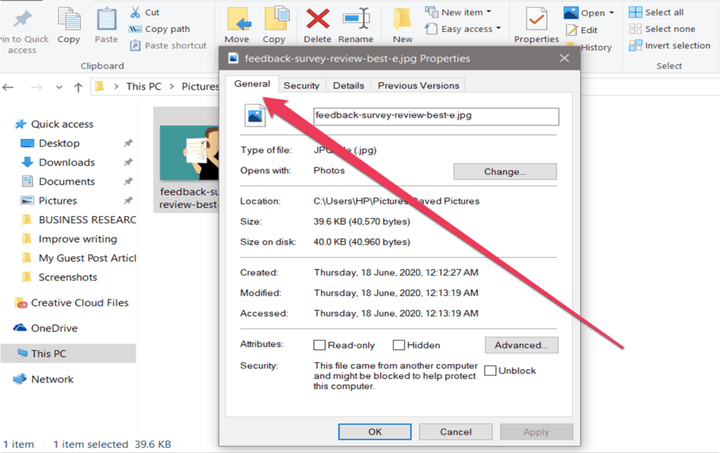 how to view exif data of an image file