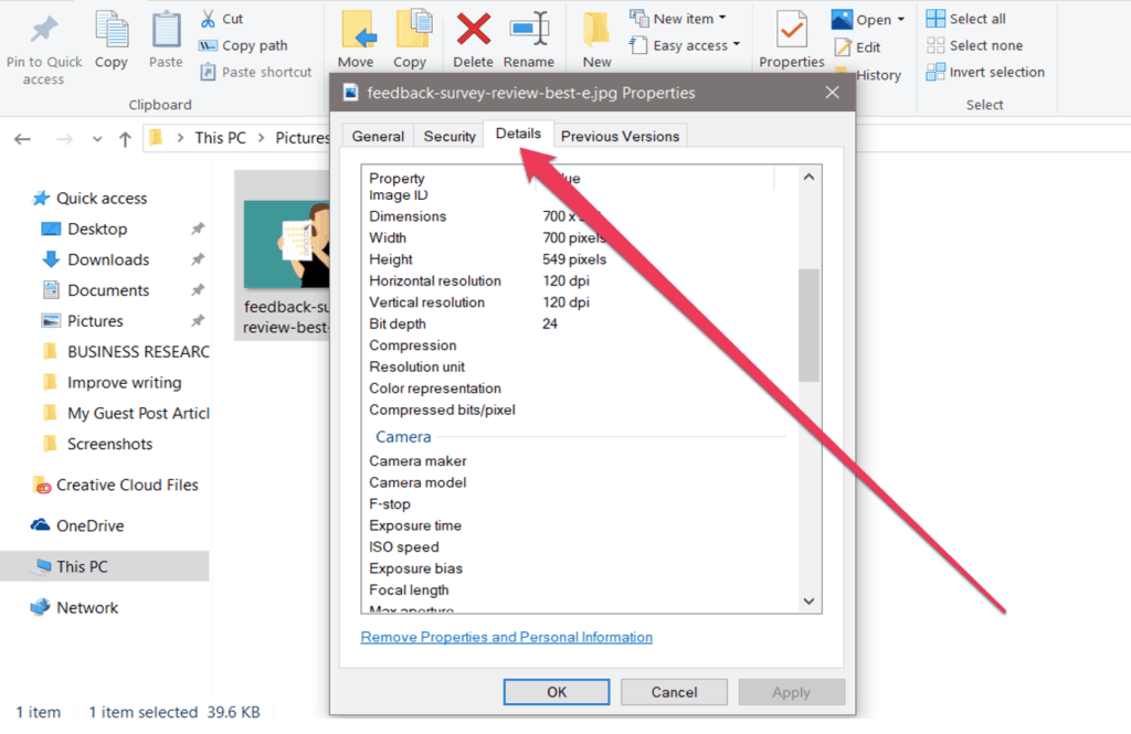 how to edit exif data of an image file