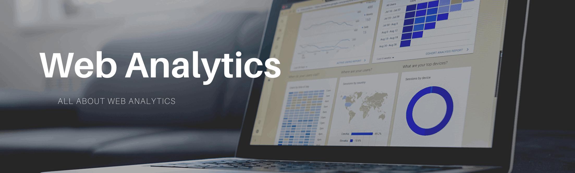 banner image of web analytics