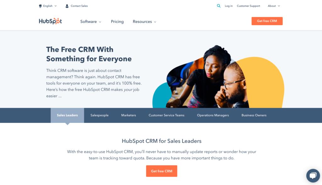 HubSpot's CRM software
