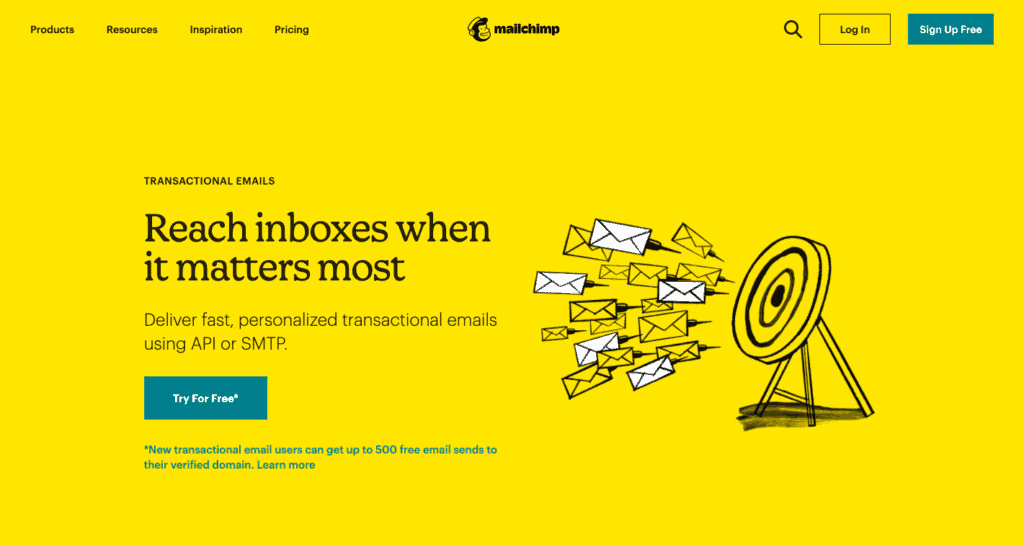 Mailchimp's email automation software