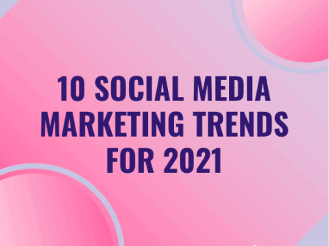 Featured image of Twinword's blog post on n10 social media marketing trends for 2021